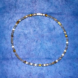 Halsband kuber 5 mm silver