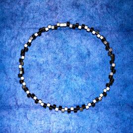 Halsband Vågbrytare 5 mm, oxiderat silver