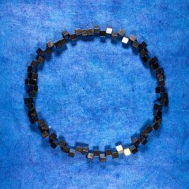 Halsband Vågbrytare 7 mm, oxiderat och förgyllt silver