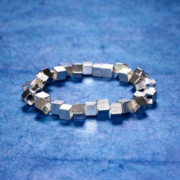 Armband Vågbrytare 7 mm silver