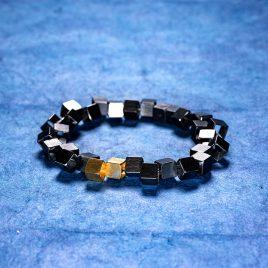 Armband Vågbrytare 7 mm oxiderat och förgyllt silver