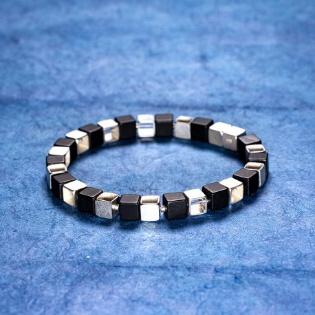 Armband kuber silver onyx Niklas Ejve